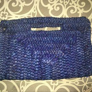 Old Navy Basket Weave Straw Clutch